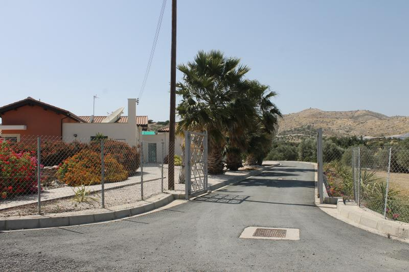 Main entrance to villa