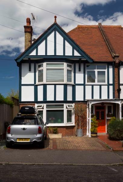 Large semi detached Edwardian House with parking for two cars.