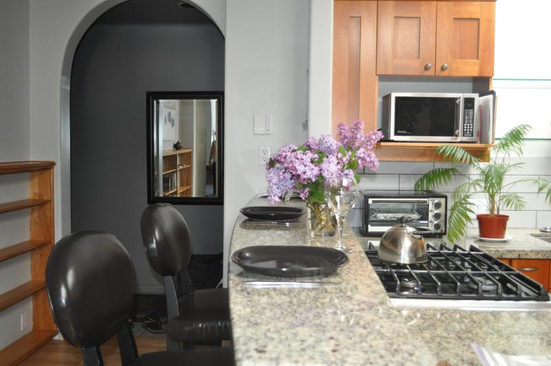 Enjoy an evening in and cook for yourself in the fully furnished kitchen.
