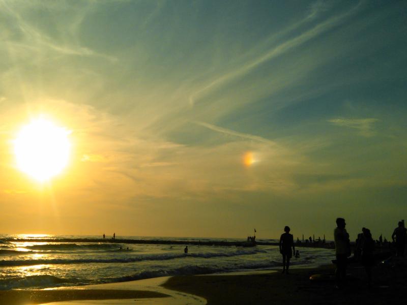 Un tramonto con riflesso