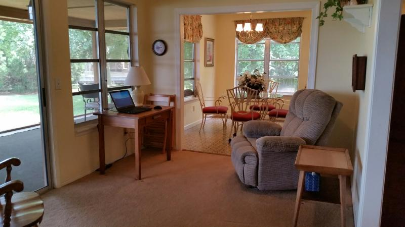 Family Room with Recliner & Laptop with WiFi