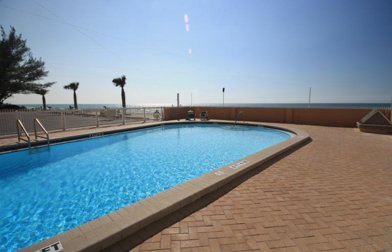 Enjoy a swim in the Gulf front pool  (across the street on the beach side)