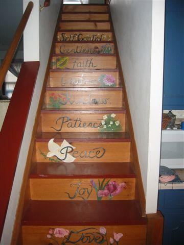 Escaliers au 2ème niveau