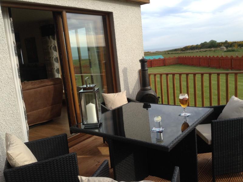 Enjoy a drink on the deck