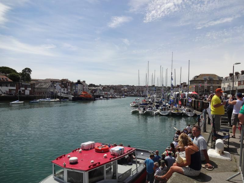 Walk along the Coast Path to Weymouth Old Harbour in 15 minutes