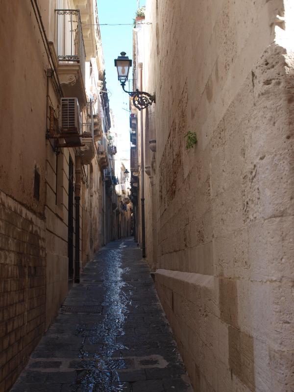 charming streets in Ortigia