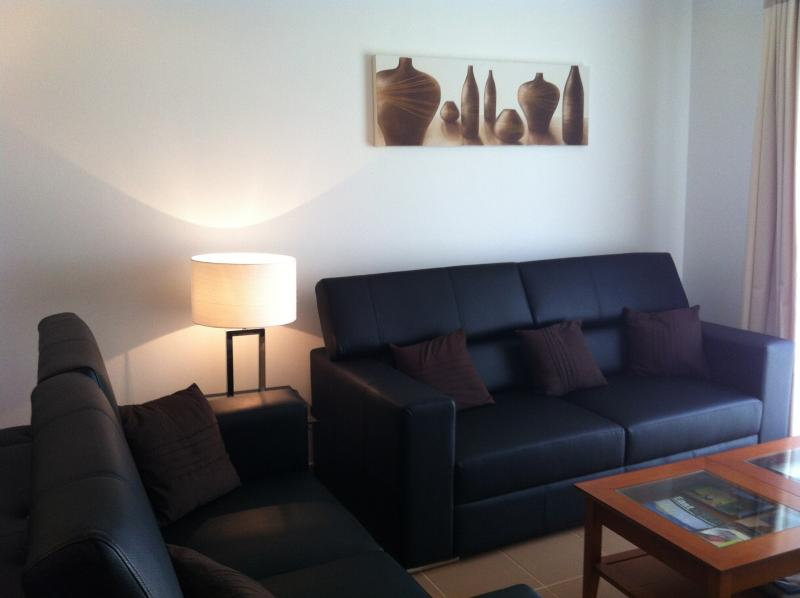 Lounge - Brand new Black Portuguese Sofas & soft furnishings, June 2015 ....