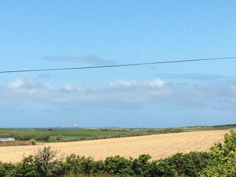 View to Skerries Lighthouse in the distance