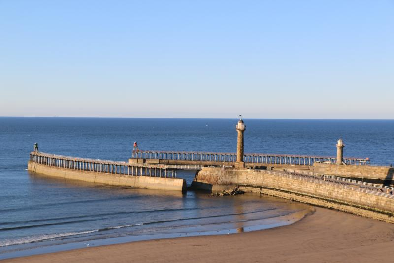 Whitby Beach And Piers