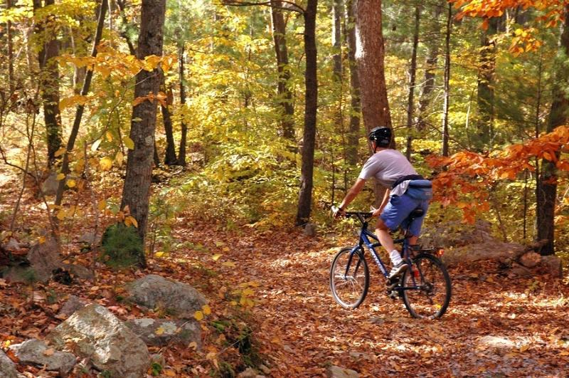 Ride your mountain bike right from the house on the Switchback Trail