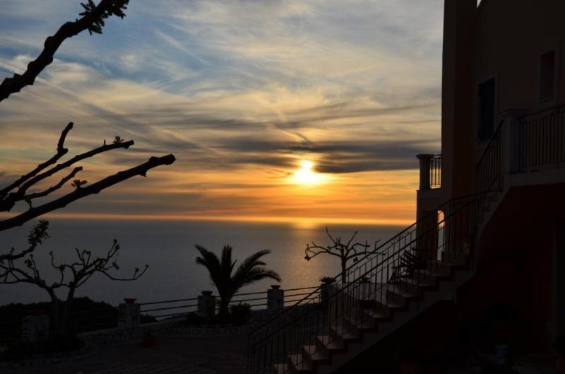 Spectacular sunset from the Villa