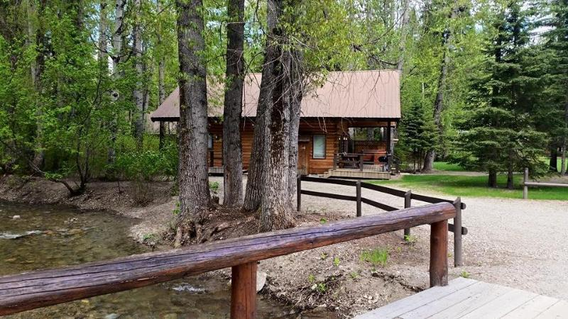 View of Cabin from bridge over Great Bear Creek