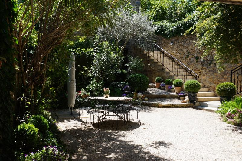 The courtyard of our 'Maison Gaddes'