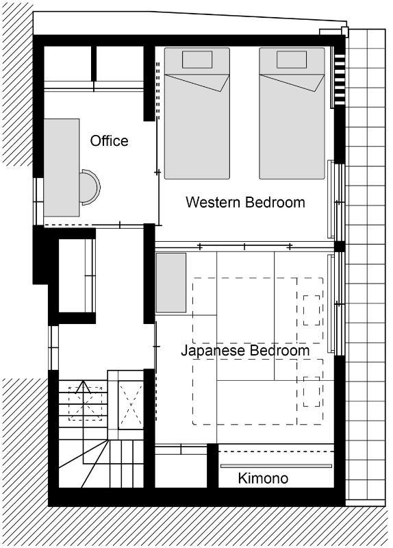 Kiyomizu Machiya 2F - Floor Plan