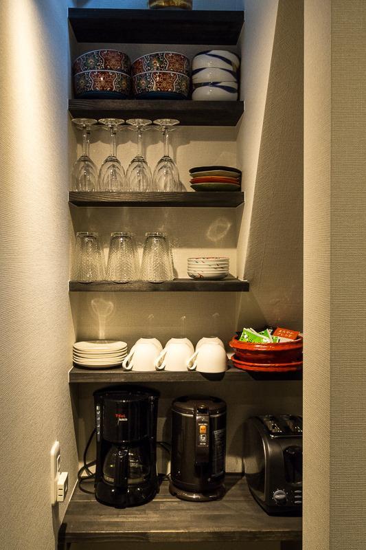 Tout ce dont vous aurez besoin est disponible pour la cuisson dans la cuisine