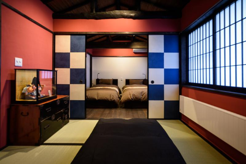 Upstairs Japanese tatami mat room, separated by 'Fusuma' (paper door) from the Western room