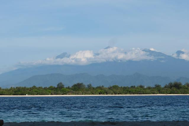 View of Mount Rinjani from Gili Trawangan