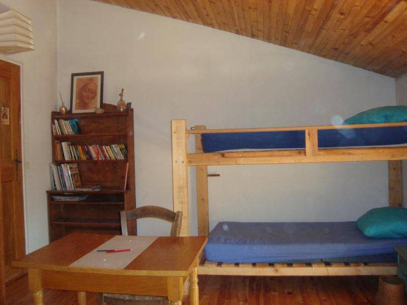 Bunks in the front of the double bed