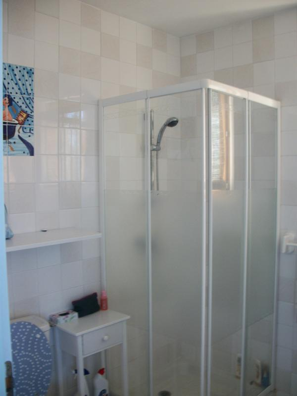 Heated Shower room with toilet, wash basin and shower