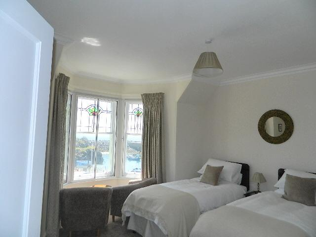 Master bedroom can be twin or super king size double. Enjoys ensuite facilities and sea views.