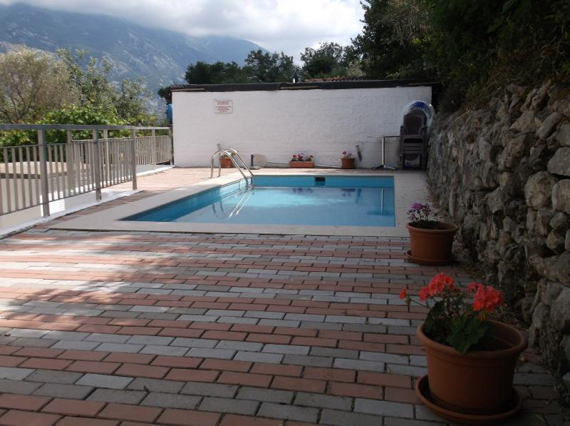 Pool, Patio and Mountain Views over Kotor Bay