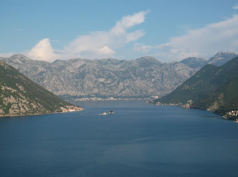 Kotor Bay and Our Lady of the Rock Monastery near Perast