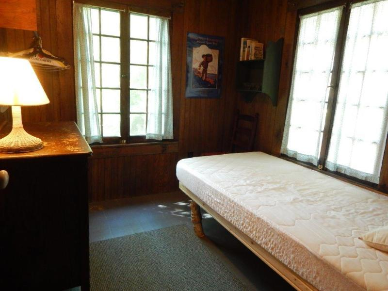 Rear bedroom downstairs has twin bed