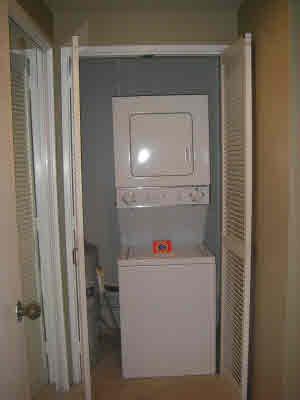 Washer/Dryer in Vanity area