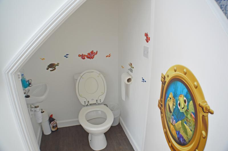 Child-friendly downstairs toilet, featuring Nemo and Friends!
