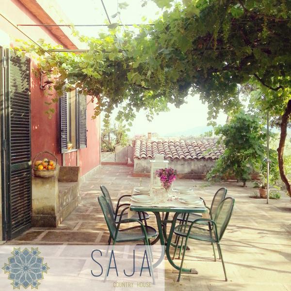 Saja país casa acireale Sicília etna mar casa de campo