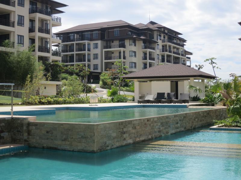 Condo building & pools