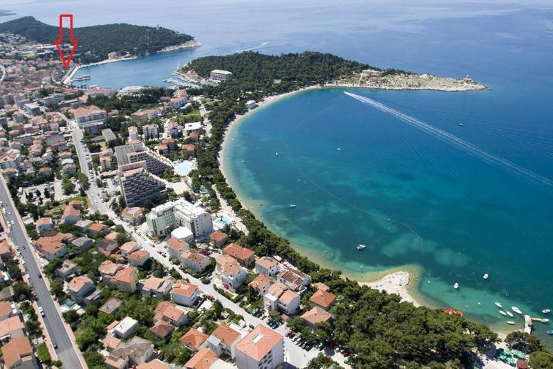 Apartment on Makarska Riva, First row from the sea, alquiler de vacaciones en Makarska