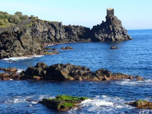 Saja país casa acireale Sicília mar país casa santa tecla etna