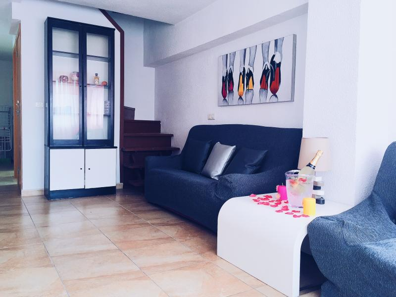 Living Room with 2 sofas, one of them is sofa-bed