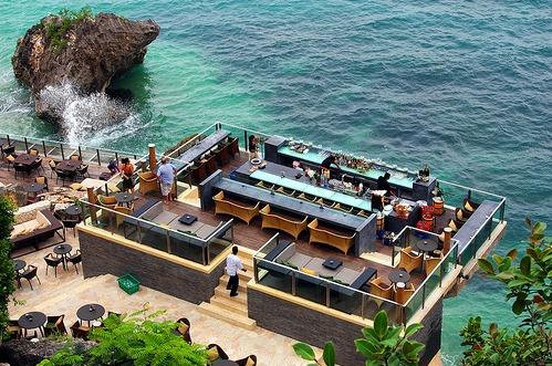 The Rock Bar, Ayana (15 minutes drive from the house)