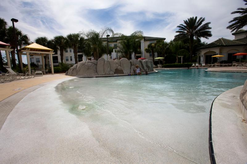 Tropical Pool at Legacy Dunes with gently shelving entry ideal for little ones!