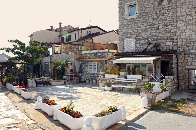 terrasse commune, terrasse et barbecue