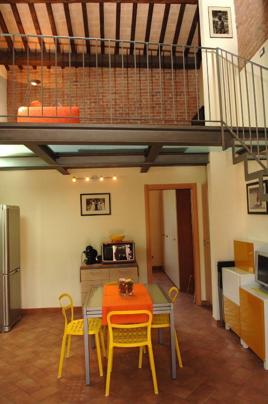 Sala de estar com kitchenette