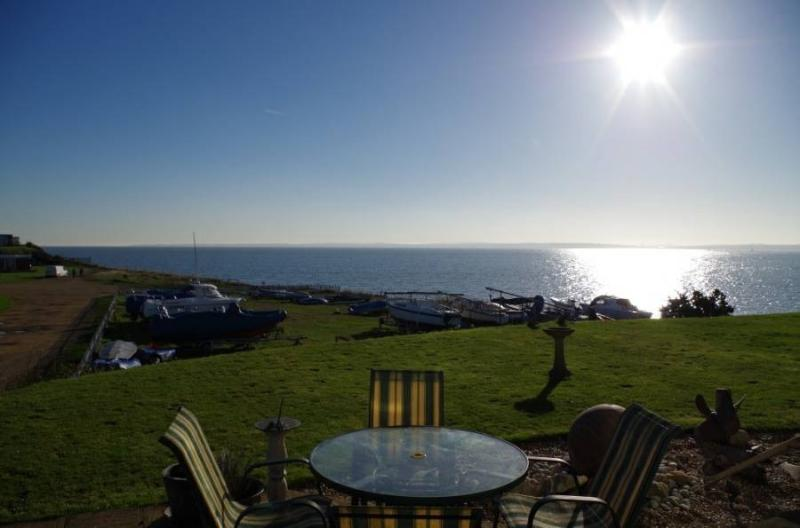 View from the garden and lounge to the west of The Solent