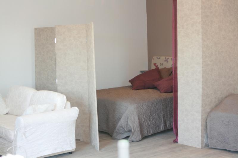 Coin  nuit avec grand lit en 160cm et dressing