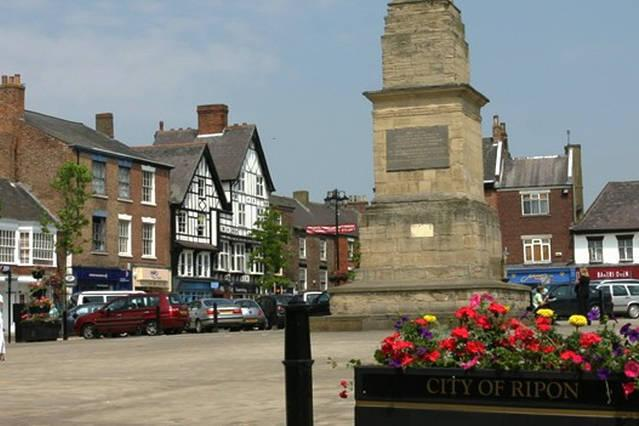 Ripon Market place 7 miles away