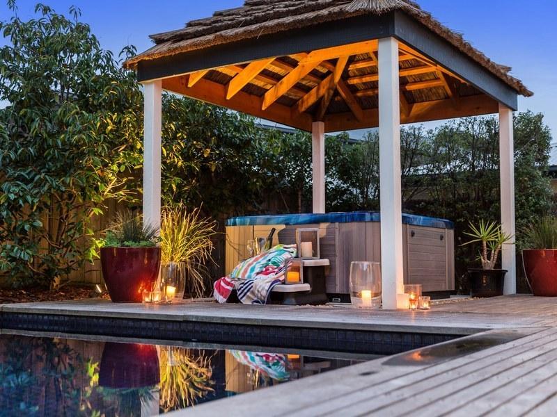 Outdoor heated spa