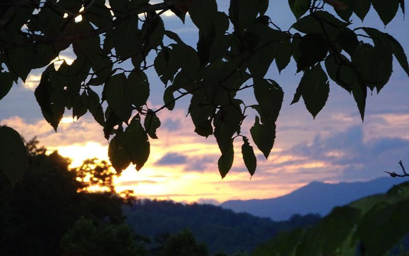 Geniet van de prachtige zonsondergang uitzicht vanaf uw dek