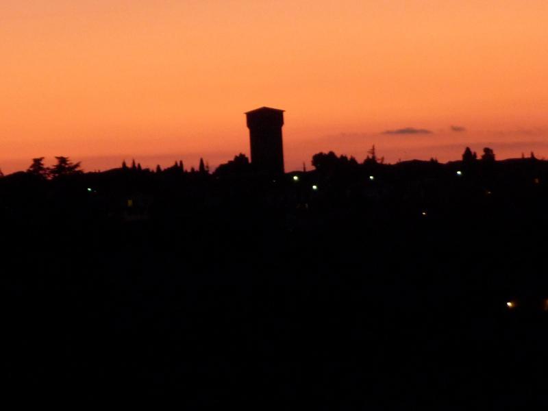 Beautiful sunset over Pienza