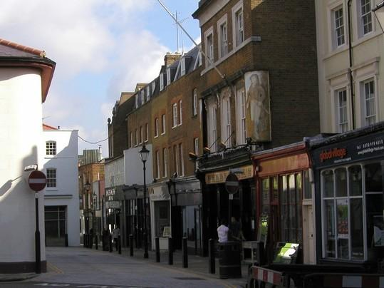 Some boutique shops on Upper St, Islington