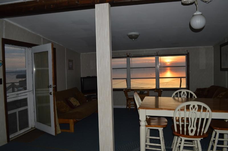 Cottage Interior at Dusk