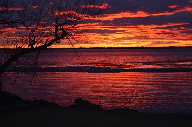 Lake Champlain on Fire
