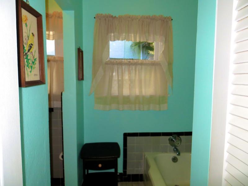 Second bathroom tub & shower