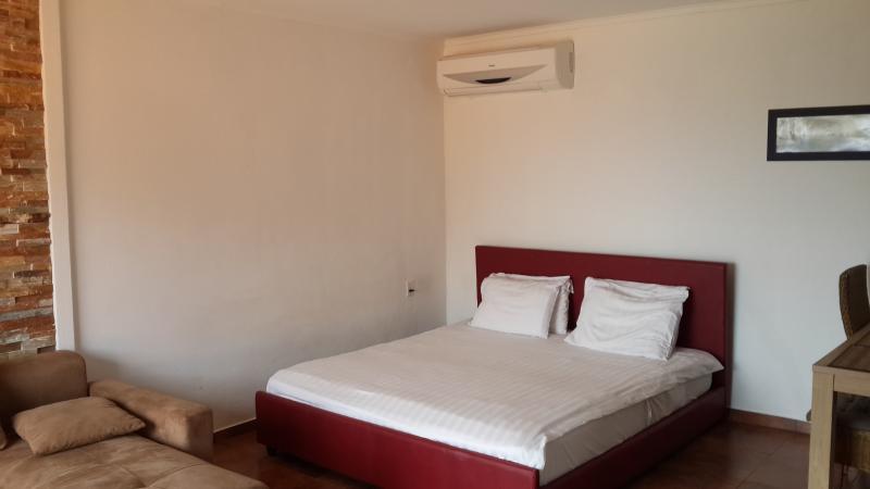 Bed corner in Studio