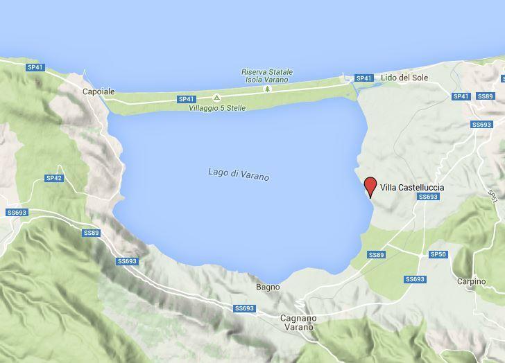 Lago di Varano von oben